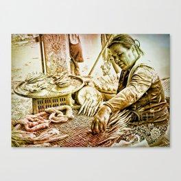 The Fish Trader. Canvas Print