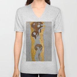 Gustav Klimt - Die Künste Unisex V-Neck