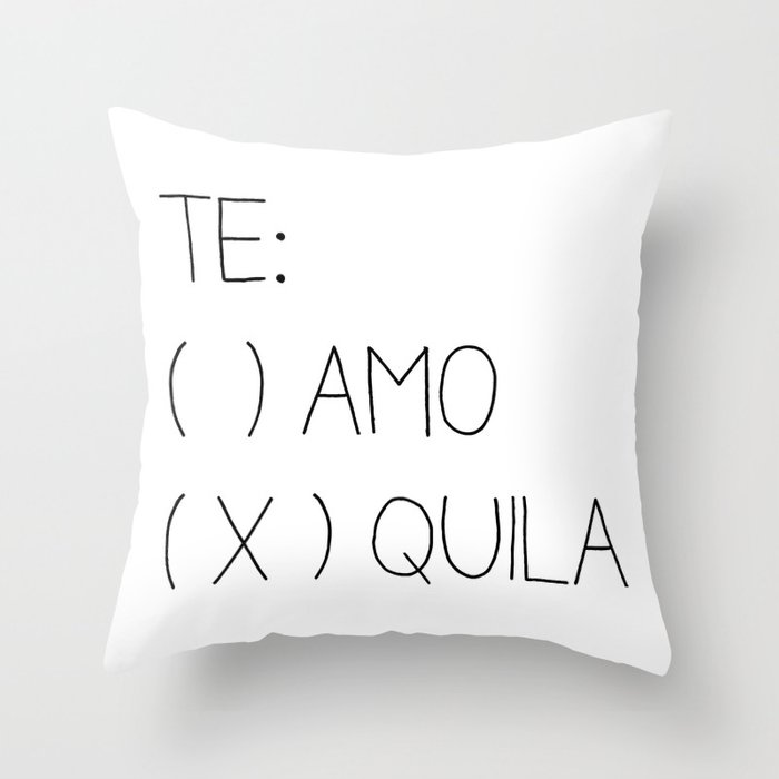 Tequila Throw Pillow