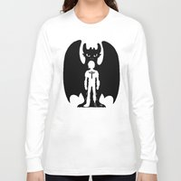 hiccup Long Sleeve T-shirts featuring Heart of a Chief Soul of a Dragon by Chouly-Shop