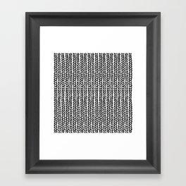 Knit Wave 2 Framed Art Print
