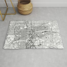 Minneapolis White Map Rug