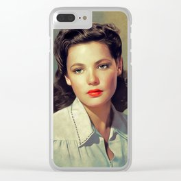 Gene Tierney, Hollywood Legend Clear iPhone Case