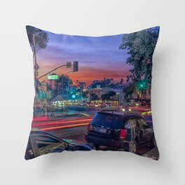 Sunset over Laguna Beach Throw Pillow