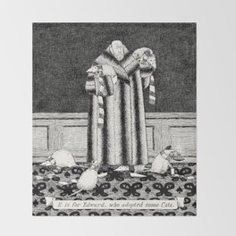 E IS FOR EDWARD, WHO ADOPTED SOME CATS Throw Blanket
