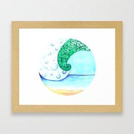 Sea and sky Framed Art Print