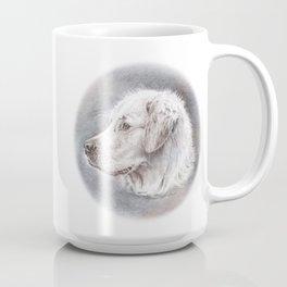 Golden Retriever Dog Drawing Coffee Mug