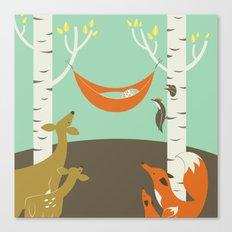 Woodland Baby Canvas Print