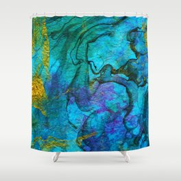 Multicolored marble ii Shower Curtain
