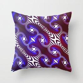Winding Cross of Duality Throw Pillow