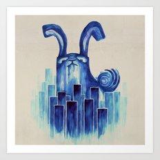 Giant rabbit Art Print