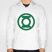 green lantern Hoodies featuring Green Lantern  by Evan Krushelnycky