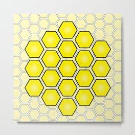 Save the Bees Design Three Metal Print
