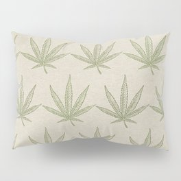 Weed Leaf Pillow Sham