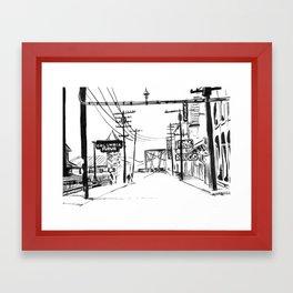 Small Town USA Framed Art Print