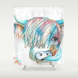 Highland Cattle full of colour Shower Curtain