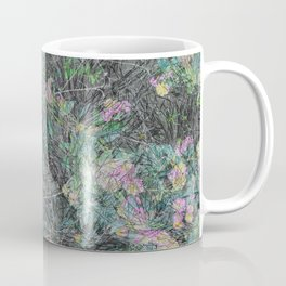 Cement Grass & Flowers / Vivid Coffee Mug