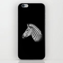 Monochrome Zebra Portrait iPhone Skin