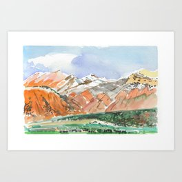 Mountains, Kyrgyzstan Art Print