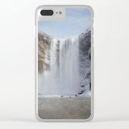 Skógafoss (Skogafoss) Clear iPhone Case