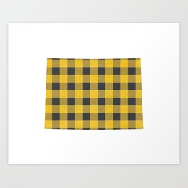 Colorado Plaid in Yellow Art Print