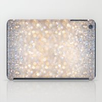 grey iPad Cases featuring Glimmer of Light (Ombré Glitter Abstract) by soaring anchor designs