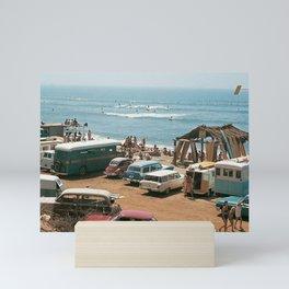 Vintage Beach Mini Art Print