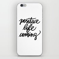 positive iPhone & iPod Skins featuring POSITIVE by Henrique Nobrega