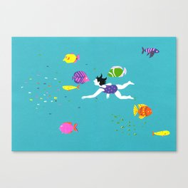 Let's Swim Together - Fish Canvas Print