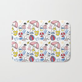 Party at the Beach Bath Mat