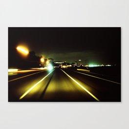 Pacific Coast Highway, CA, 2:00am Canvas Print