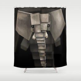 Elephant² Shower Curtain