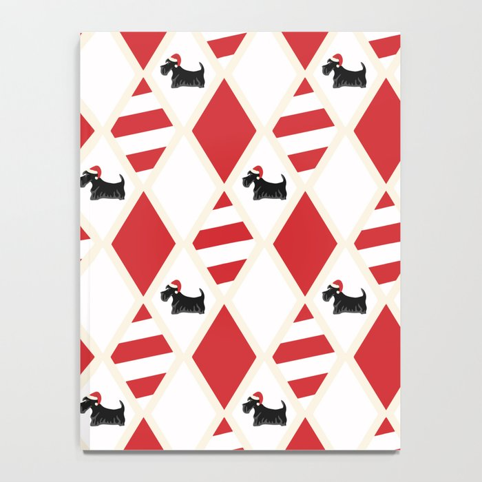 Scottie Dog Christmas Pattern Notebook