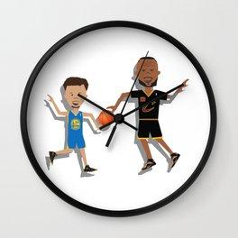 StephenCurry with LeBronJames Wall Clock