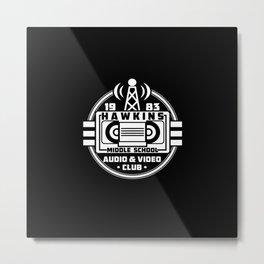 Audio & Video club Metal Print