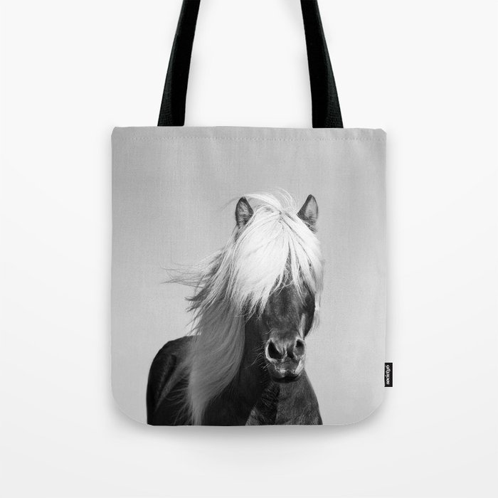 Portrait of a Horse in Scotish Highlands Tote Bag