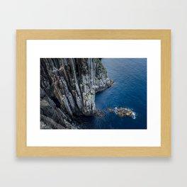 Dolerite Sea Cliffs Framed Art Print