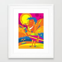 surfer Framed Art Prints featuring Surfer by Roberlan Borges