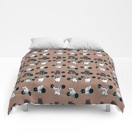 OLYMPIC LIFTING  FRENCH BULLDOG Comforters