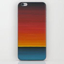 Sea Sunset Meditation Beach Painting iPhone Skin