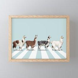 Llama The Abbey Road #1 Framed Mini Art Print