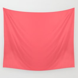 Coral Red Wall Tapestry