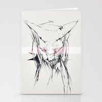 sphynx Stationery Cards featuring sphynx by Lisseau Design Lab