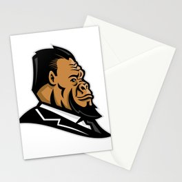 Well-Groomed Gorilla Mascot Stationery Cards