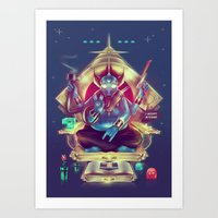 8Bit Mystic & The Emerald Sqube Art Print