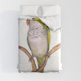 Quaker parrot in watercolor Comforters