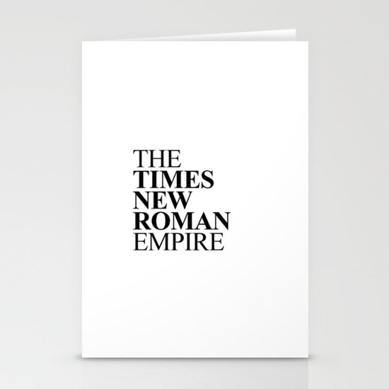 THE TIMES NEW ROMAN EMPIRE Stationery Cards