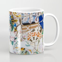 Mosaic Colored Ceramic Tile Pattern Coffee Mug