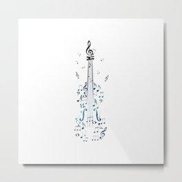 Creative violin silhouette Metal Print