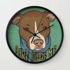 Pit bull Pride Wall Clock